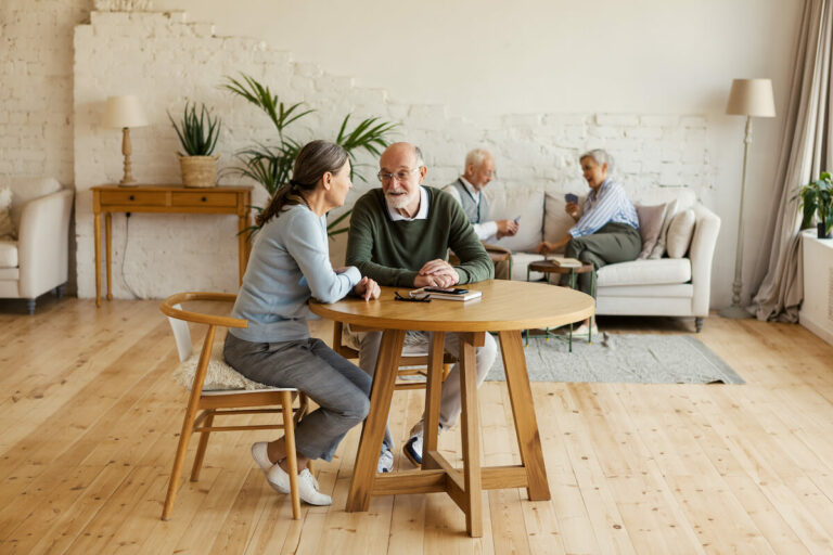 SoCo Village | Two people having conversation